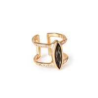 Faux Stone Cutout Cocktail Ring