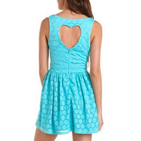 Heart Cutout Lace Skater Dress: Charlotte Russe