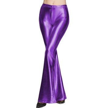 Back to the 70's Disco Flared Pants - 9 Colors