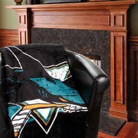 "San Jose Sharks Stamp 60"" x 80"" Raschel Plush Blanket"