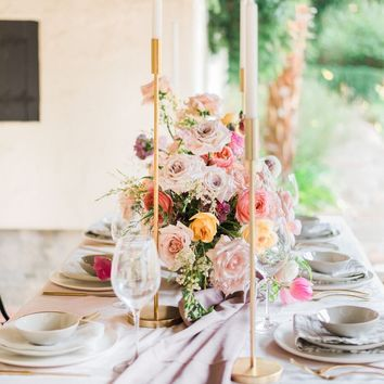 Mauve Crinkle Silk Table Runner
