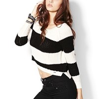 Cropped High Low Sweater