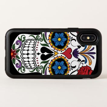 Colorful Sugar Skull OtterBox Apple iPhone X Case