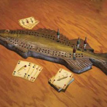 REP Walleye Cribbage Set       W/Cards  712