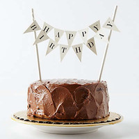 Anthropologie - Happy Birthday Cake Topper