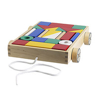 MULA 24 building blocks with wagon   - IKEA