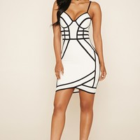 Contrast Piping Bodycon Dress