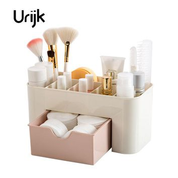 Urijk Cosmetic Jewelry Organizer Office Storage Drawer Makeup Case Casket Makeup Brush Box Lipstick Remote Control Drop Shipping