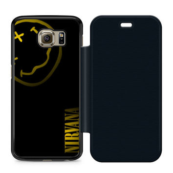 Nirvana Art Leather Wallet Flip Case Samsung Galaxy S6
