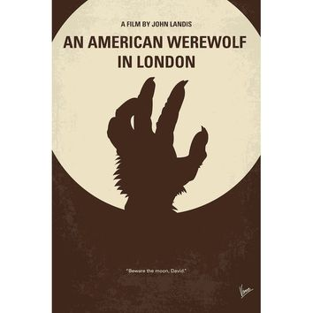 'An American Werewolf in London Minimal Movie Poster' Vintage Advertisement on Wrapped Canvas