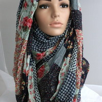 Patchwork Lily [AWPATC] - £6.95 : AWRA HIJABS :: For beautiful sisters like you