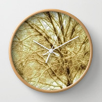 Trees, Bronze, Sepia, Winter, Nature - 10 Inch Round Wall Clock - kitchen, new home or apartment, dorm, gift - Made To Order - BW#16