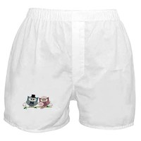 Wedding Owls Art Boxer Shorts on CafePress.com