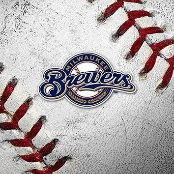 MLB Milwaukee Brewers iPad Mini 3 Skin - Milwaukee Brewers Home Jersey Vinyl Decal Ski