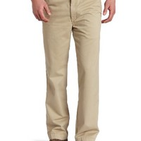 Haggar Men's LK Life Khaki Relaxed Straight Fit Flat Front Chino Pant