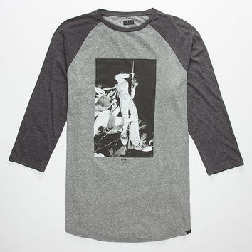 Kr3w Reverb Mens Baseball Tee Grey  In Sizes
