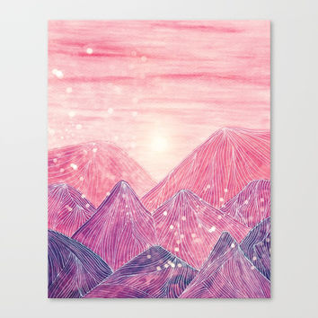 Lines in the mountains XXI Canvas Print by Viviana Gonzalez