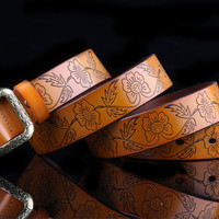 Buy LONGMA Leather Belt | YesStyle