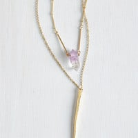 ModCloth Boho Ode to Geode Necklace