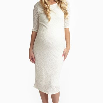 Ivory Lace Maternity Dress
