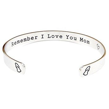 AUGUAU O.RIYA Remember I Love You Mom Mother's Day Gift / Gifts For Mom From Daughter Forever and Always