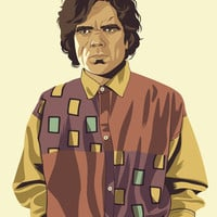 GAME OF THRONES 80/90s ERA CHARACTERS - Tyrion Art Print by Mike Wrobel