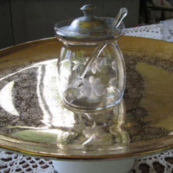 Cupcake Stand Special Occasion 22KT Gold Cake Plate Serving Tray Solid Gold Cupcakes Wedding Birthday Party vintage