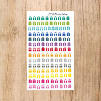Tiny Present Die Cut Planner Sticker - 140 stickers per sheet