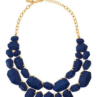 Kate Spade Quarry Gems Statement Necklace Blue Lapis ONE