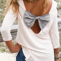 Seaside Pavillion Tribal Bow Back Top