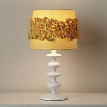 Kids Lamp Shades: Yellow Ruffled Lamp Shade in Table Lamps | The Land of Nod