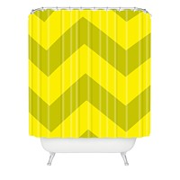 Holli Zollinger Chevron Yellow Shower Curtain