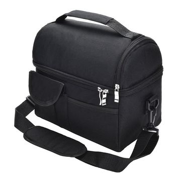 Lunch Bag Reusable Insulated Thermal Bag Women Men Multifunctional 8L Cooler And Warm Keeping Lunch Box Leakproof Waterproof