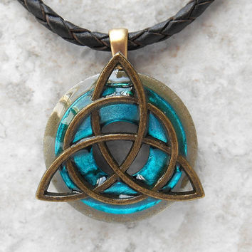 Best celtic jewelry men products on wanelo triquetra necklace bright blue mens jewelry celtic jewelry aloadofball Choice Image
