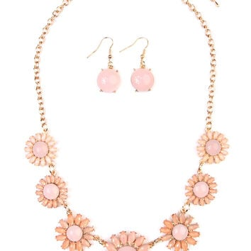 Floral Statement Necklace & Drop Earrings