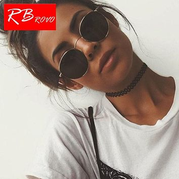 c841ce98f6b4b RBROVO 2019 Vintage Oval Classic Sunglasses Women Men Eyeglasses Street  Beat Shopping Mirror Oculos De