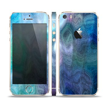 The Vivid Blue Sagging Painted Surface Skin Set for the Apple iPhone 5s