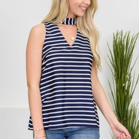 Charming Nautical Striped Top