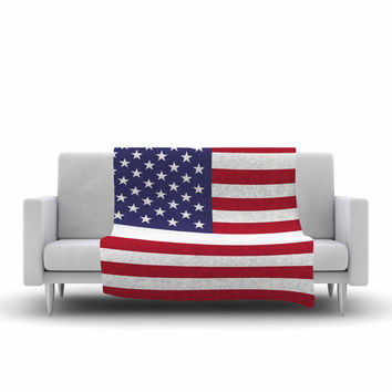 "Bruce Stanfield ""Flag of USA"" Contemporary Digital Fleece Throw Blanket"