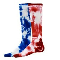 TIE DYE COMPRESSION RUNNING SOCKS