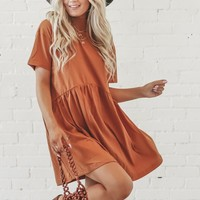Ditzy Debby High Neck Camel Dress