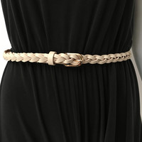 All Tied Up Belt in Beige