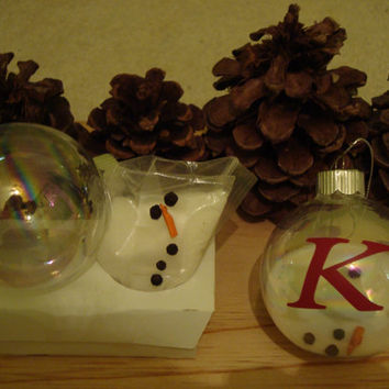 Children Melted Snowman Ornament Kit.Provide all the makings for the melted snowman.