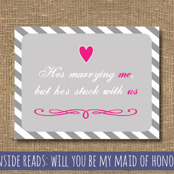 Will You Be My Maid of Honor - Funny Will You Be My Maid of Honor - Bridesmaids - Cards