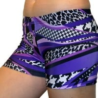 Mamba Spandex Shorts (2.5 In. Adult S 4-6, Purple Mamba)