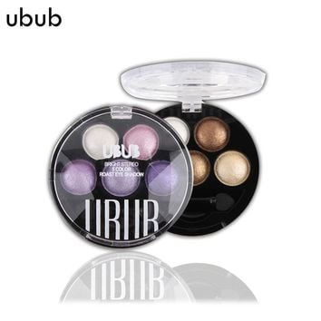 UBUB Professional 6 Colors Eye Shadow Palette Makeup Beauty Cosmetics Make Up  Metallic Pigment Glitter Eyeshadow For Full Eyes