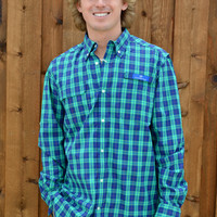 Southern Tide Blue Fish Fishing Shirt