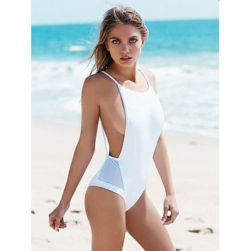 2017 Women One Piece Swimsuit Bathing Suit Bandage Backless Swimwear [10149797071]