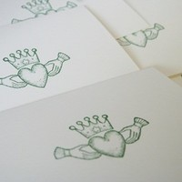 Claddagh All Occasion Note Card Stationery Set of Five