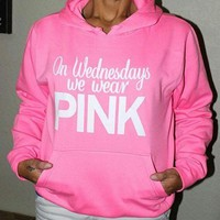 PINK Victoria's Secret Woman Print Long Sleeve Top Sweater Pullover Hoodie